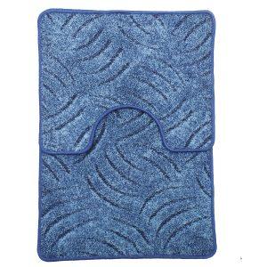 Panna 2db-os fürdőszobaszett - Kék színben karmolt mintával