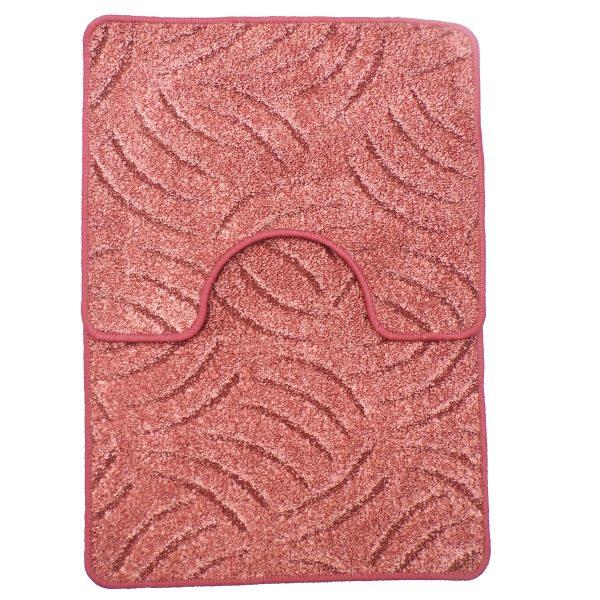 Panna 2db-os fürdőszobaszett - Mályva színben karmolt mintával
