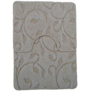 Panna 2db-os fürdőszobaszett - Törtfehér színben inda mintával