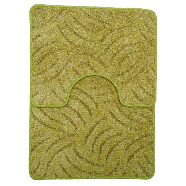 Panna 2db-os fürdőszobaszett - Zöld színben karmolt mintával