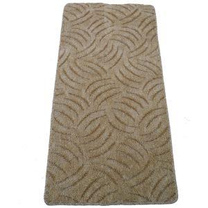 Szegett szőnyeg 60x200 cm beige színben karmolt mintával