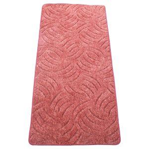 Szegett szőnyeg 60x500 cm mályva színben karmolt mintával