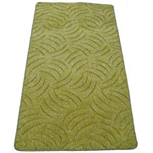 Szegett szőnyeg 70x500 cm zöld színben karmolt mintával