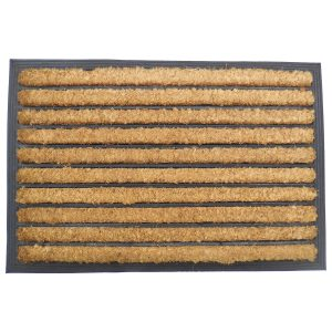 Vastag gumis kókusz lábtörlő 40x60 cm - Csíkos