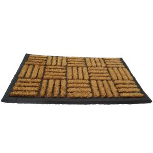 Vastag gumis kókusz lábtörlő 40x60 cm - Négyzetrácsos 2