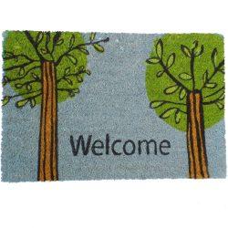 Festett kókusz lábtörlő 40x60 cm - Welcome fa mintával