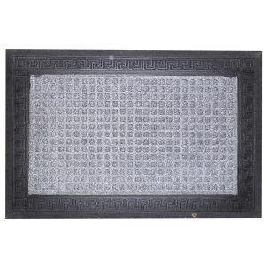 Gumis textil lábtörlő 40x60 cm - Világosszürke színben görög mintával