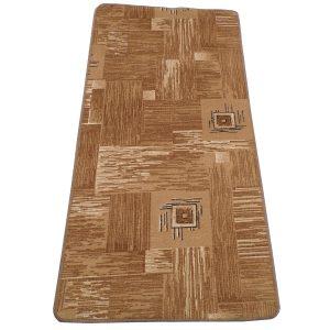 Szegett szőnyeg 60x120 cm – Barna színben kockás mintával