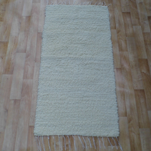 Gyapjú szőnyeg 70x200 cm - Beige színben