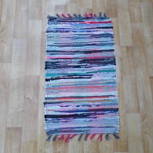 Színes pamut rongyszőnyeg 50x90 cm [Cikksz. 21.001]