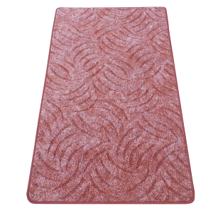 Szegett szőnyeg 70x120 cm - Vörösesbarna színben karmolt mintával