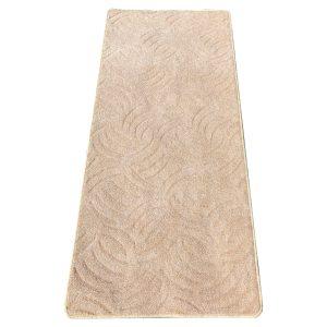 Szegett szőnyeg 100x200 cm - Törtfehér színben karmolt mintával