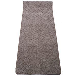 Szegett szőnyeg 100x400 cm - Barna színben karmolt mintával