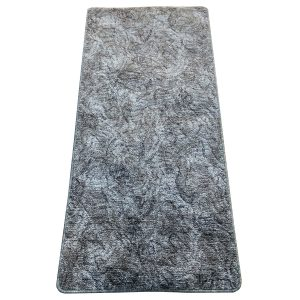 Szegett szőnyeg 100x300 cm - Szürke színben márvány mintával