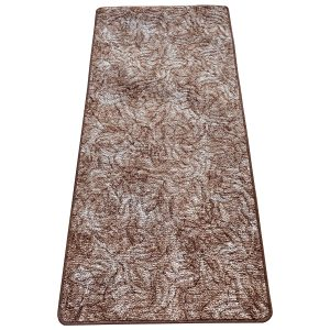 Szegett szőnyeg 100x500 cm - Barna színben márvány mintával