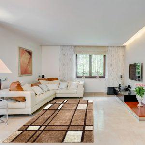 Modern szőnyeg 80x150 cm - Beige F952 - enteriör
