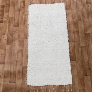 Fehér rongyszőnyeg 70x200 cm