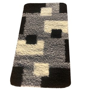 Shaggy szőnyeg 60x220 cm - Black, Grey 051