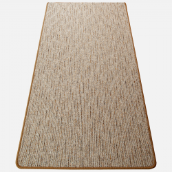 Szegett szőnyeg - Beige-barna színben vonalas mintával - teljes 2