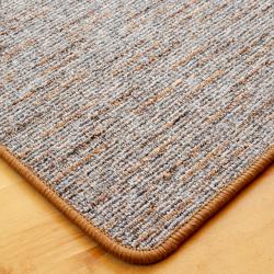 Szegett szőnyeg - Szürke-barna színben vonalas mintával - közeli