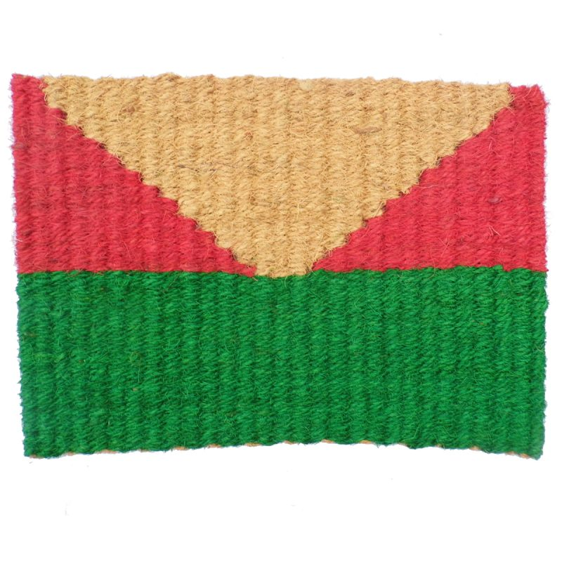 Fonott kókusz lábtörlő 40x60 cm - Zöld, piros