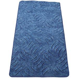 Szegett szőnyeg 100x200 cm kék színben karmolt mintával