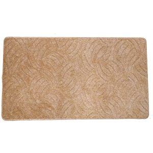 Szegett szőnyeg 70x120 cm beige színben karmolt mintával kiterítve
