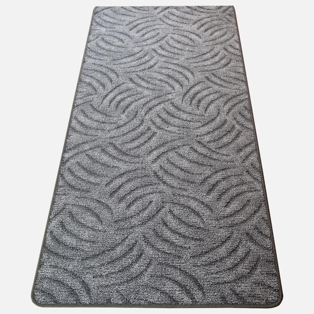 Szegett szőnyeg - Szürke színben karmolt mintával - teljes 2