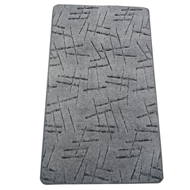 Szegett szőnyeg 100x200 cm Szürke színben vonal mintával