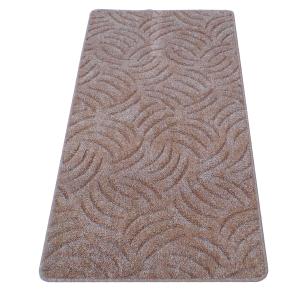 Szegett szőnyeg 70x120 cm - Mogyoróbarna színben karmolt mintával