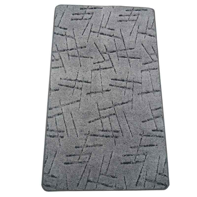 Szegett szőnyeg 70x120 cm Szürke színben vonal mintával