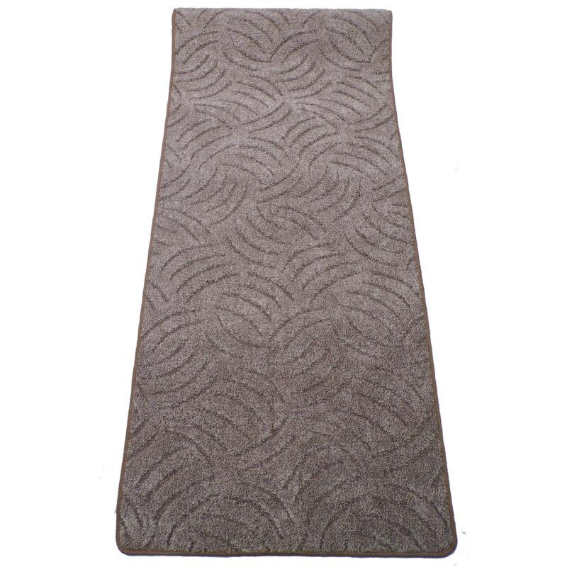 Szegett szőnyeg 70x150 cm - Barna színben karmolt mintával