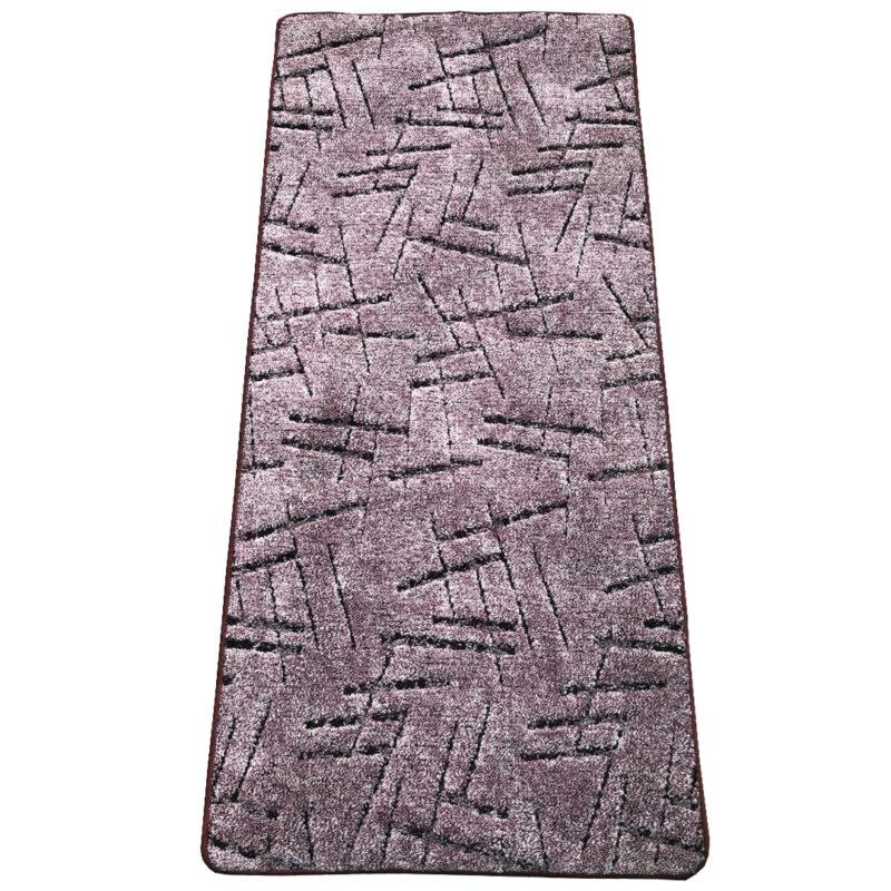 Szegett szőnyeg 70x300 cm - Lila színben vonal mintával