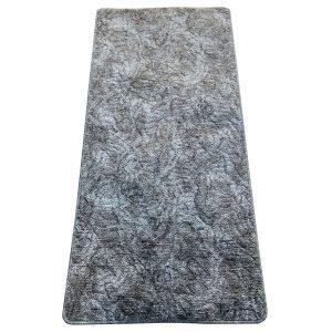 Szegett szőnyeg 70x150 cm - Szürke színben márvány mintával