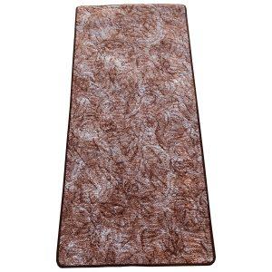 Szegett szőnyeg 70x150 cm - Vörösesbarna színben márvány mintával