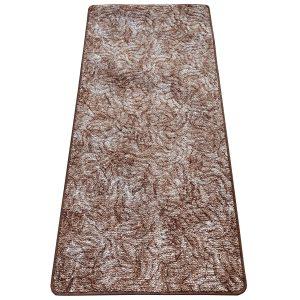 Szegett szőnyeg 70x150 cm - Világosbarna színben márvány mintával