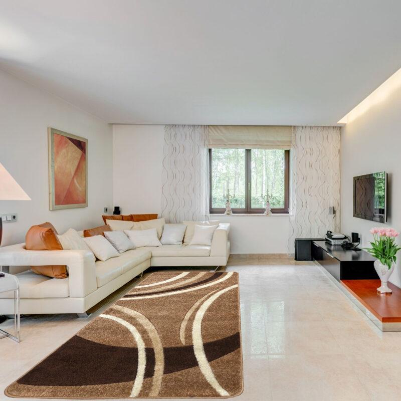 Modern szőnyeg 200x280 cm - New Beige 81181 - enteriör
