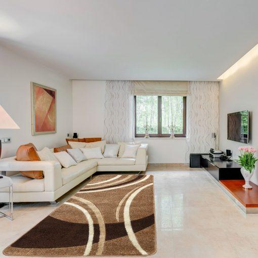 Modern szőnyeg 60x110 cm - New Beige 81181 - enteriör