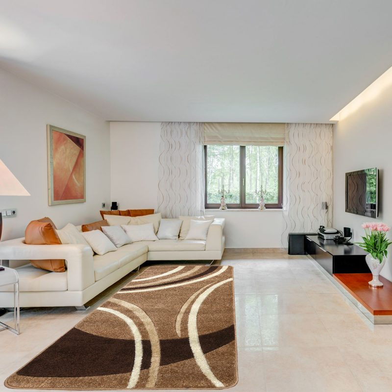Modern szőnyeg 60x220 cm - New Beige 81181 - enteriör