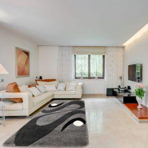 Modern szőnyeg 60x220 cm - Szürke 2331 - enteriör