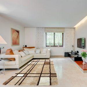 Modern szőnyeg 80x150 cm - Cream F952 - enteriör