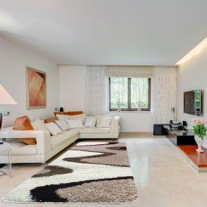 Shaggy szőnyeg 200x280 cm -Beige 742 - enteriör