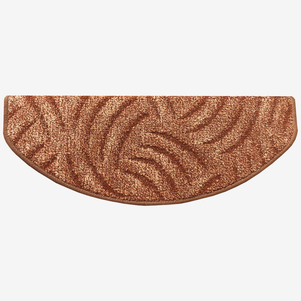 Lépcsőszőnyeg 65x24 cm - Barna színben karmolt mintával