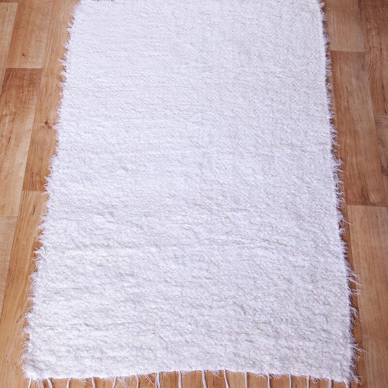 Fehér rongyszőnyeg 70x100cm