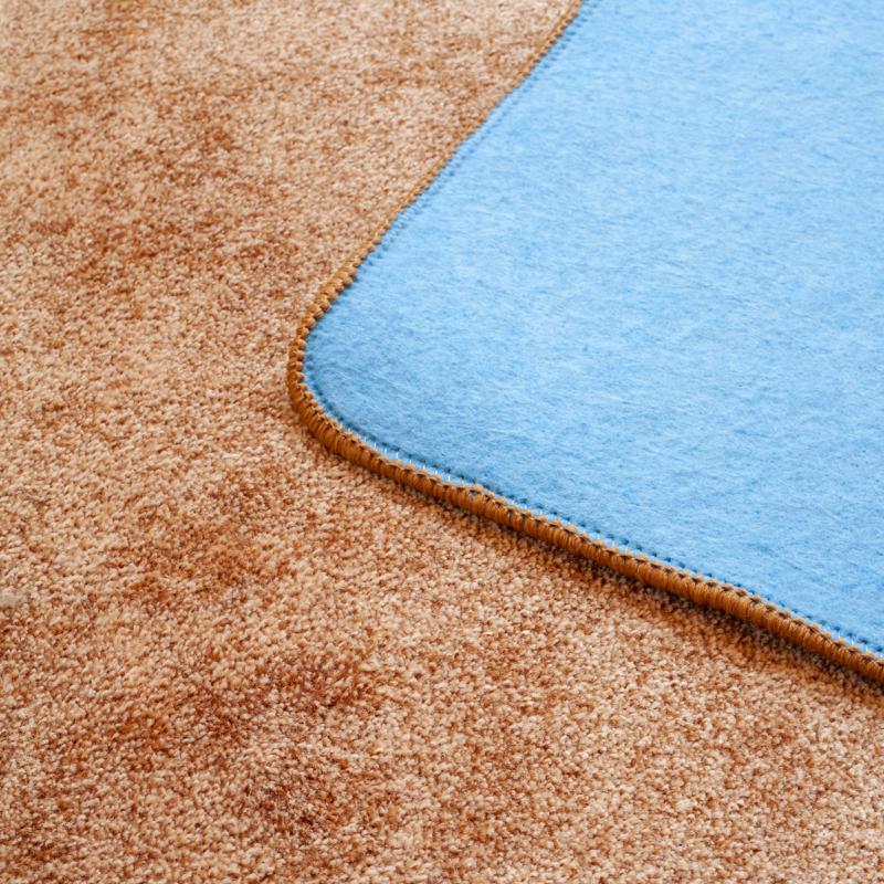Szegett szőnyeg - Barna egyszínű - közeli 2