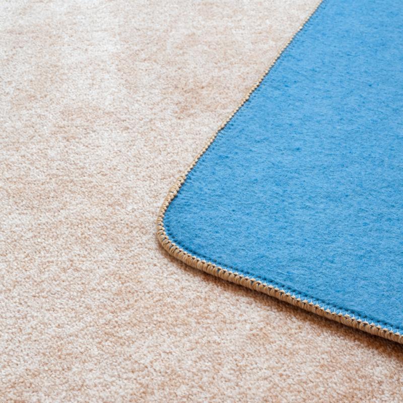 Szegett szőnyeg - Törtfehér egyszínű - közeli 2