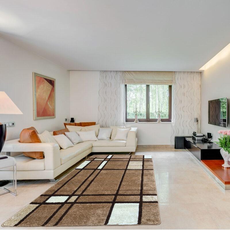 Modern szőnyeg 120x170 cm - Karamell F952 - enteriör