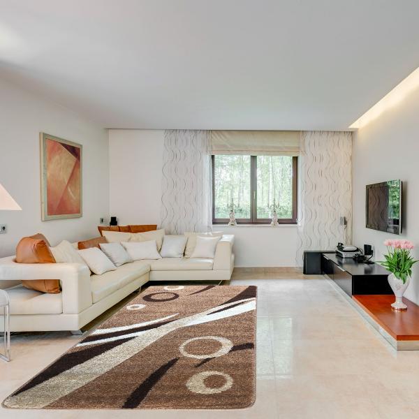 Modern szőnyeg 60x110 cm - New Beige 9842 - enteriör