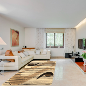Modern szőnyeg 80x150 cm - Cream 2331 - enteriör