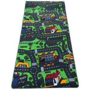 Gyerekszőnyeg 100x200 - Autópályás szőnyeg